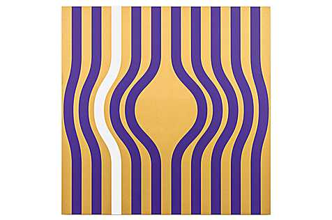 Sylvie Fleury, Free Buren (gold, purple, white), 2008/2016