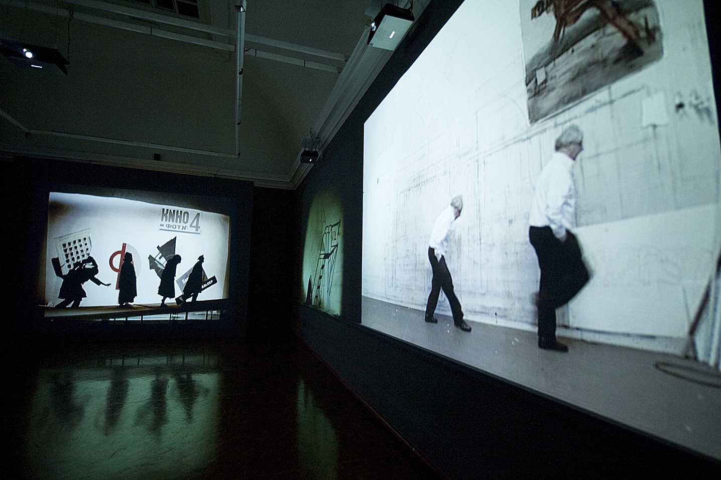 """""""I am not me, the horse is not mine"""", Installation view, 2008, Courtesy William Kentridge and Goodman Gallery"""